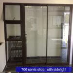 700 Series sliding door with side light