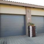 CHARCOAL GARAGE DOOR SLATTED