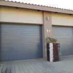 CHARCOAL GARAGE DOOR SLATTED